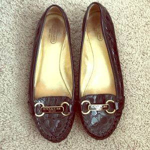 Coach monogram patent leather loafers. Sz 7.5.